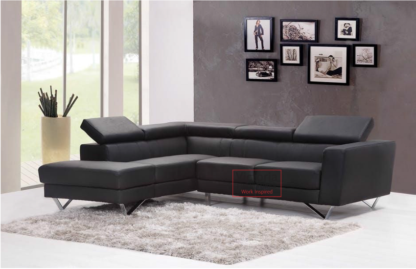 The sofa complements the room and does not clutter the area.
