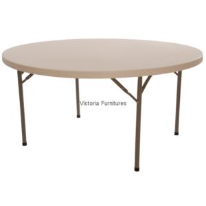 White Folding Round Table