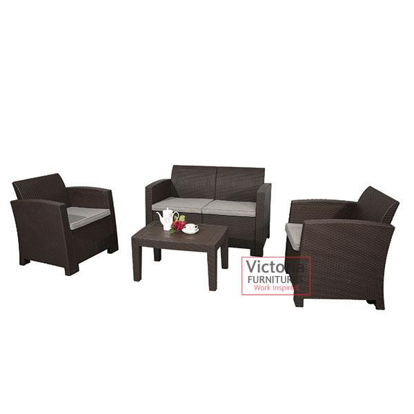 Surprising 4 People Plastic Sofa Set Victoria Furnitures Ltd Home Interior And Landscaping Ologienasavecom